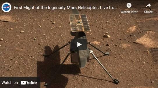 Marte, in attesa del primo volo di Ingenuity
